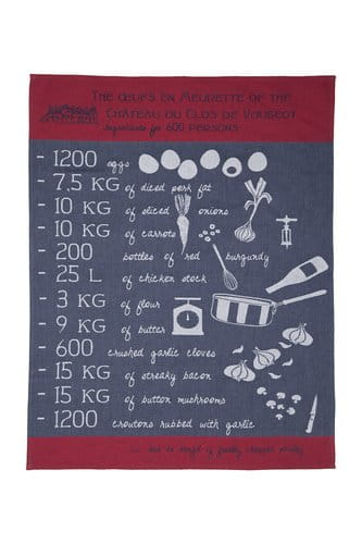 Jacquard tea towel